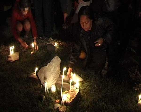 Laying Candles Circle St Kilda