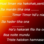 Writing-Timor