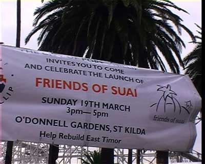 Friends of Suai Launch Banner